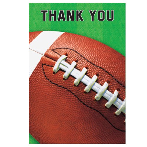 Amscan Football Invites - 8 ct