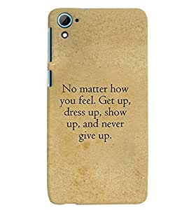 Fuson Premium Show Up Printed Hard Plastic Back Case Cover for HTC Desire 826