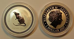 2008 Year of the Rat/Mouse - 1 oz .999 Pure Silver Coin (Series 1)