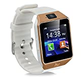 Qiufeng® Dz09 Bluetooth Smart Watch SmartWatch with Camera for Iphone and Android Smartphones(Golden,White Band)