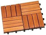 Lawn & Patio - Brema 057133 Bodenfliesen-Set, bestehend aus 30 x 30 cm Bodenfliegen Eukalyptus FSC 100%, 11 St�ck
