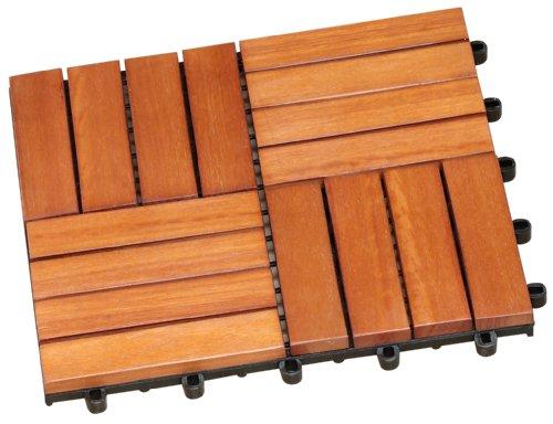 057133 Bodenfliesen-Set, bestehend aus 30 x 30 cm Bodenfliegen Eukalyptus FSC 100%, 11 Stück