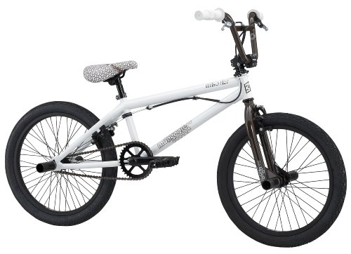 Mongoose Mischief Boy's Freestyle Bike (20-Inch Wheels, White)