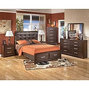 amazon com aleydis storage bedroom set bedroom amazon com san marcos panel bedroom set queen bedroom