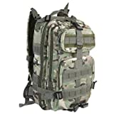 Sport Outdoor Military Rucksacks Tactical Molle Backpack Camping Hiking Trekking Bag (CP Camouflage)
