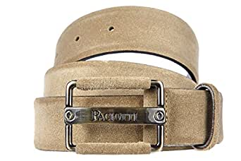 Cesare Paciotti men's genuine leather belt beige US size 36 Z1143 at