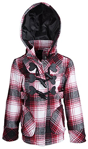 Dollhouse Baby Girls Waisted Wool Jacket with Removable Hood and Toggles
