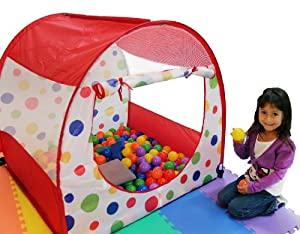 Clearance Sale: Polka Dot Play Ball Tent w/ Tote (Mats & Balls Sold Separately) by Wonder Tent