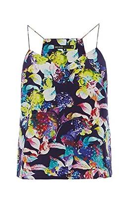Silk floral print camisole top