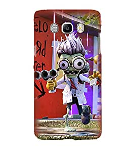 Printvisa Animated Monster With A Weapon. Back Case Cover for Samsung Galaxy J7 (2016)::Samsung J710F