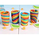 (Set/4) Edible Candy Lemon And Lime Flavor Shot Glass - Snack Drinkware Set