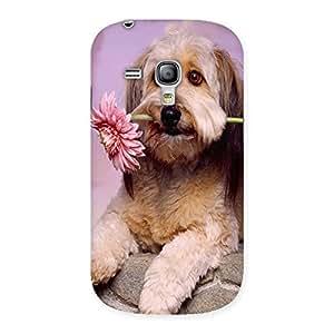 Ajay Enterprises Dog Flower Back Case Cover for Galaxy S3 Mini