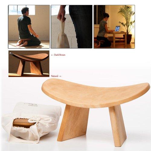 Wooden Meditation Kneeling Bench Natural Spine Curve