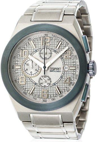 Esprit - Orologio da polso, cronografo al quarzo, acciaio INOX