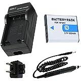 Battery + Charger for Sony Cyber-shot DSC-W710, DSC-W730, DSC-W800, DSC-W810, DSC-W830 Digital Camera