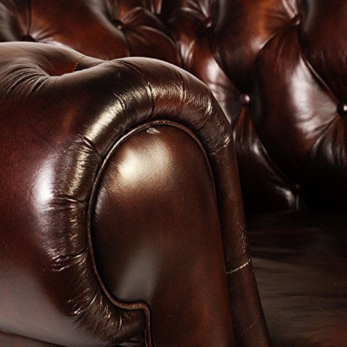 Lazzaro 1011 Chesterfield Leather Sofa - In Stock 3