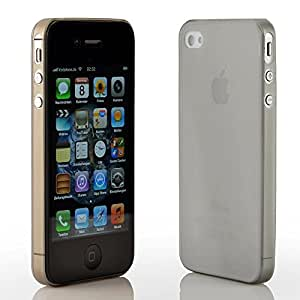 MACOON Cover SecondSkin ultra fine et translucide pour iPhone 4 4S Gris