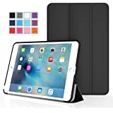 iPad Mini 4 Case, Moko Ultra Slim Lightweight Smart-shell Stand Cover Case With Auto Wake / Sleep for Apple iPad Mini 4 (2015 edition) 7.9 inch iOS Tablet, BLACK