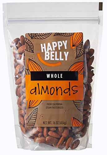 Happy Belly Whole California Almonds, 16 Ounce, Pack of 2 (Almonds Steam compare prices)