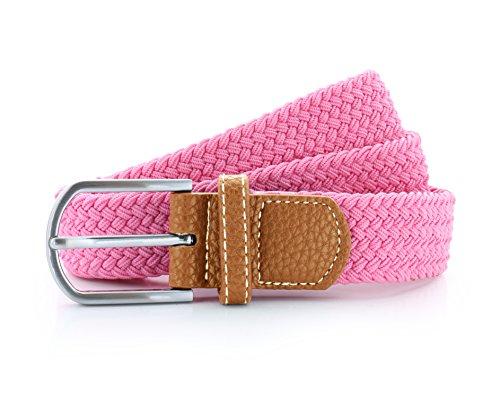 asquith-fox-unisex-braid-stretch-belt-pink-carnation