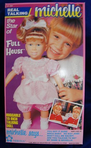 Full House MICHELLE Huggable 15 Inch Talking Doll, Vintage in Box (Full Doll House compare prices)