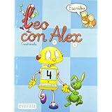 Leo con Álex 4. Escribo. Cuadrícula (Leo con Álex. Cuadernos de escritura en cuadrícula)