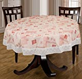 Bianca Anti Skid PVC 4 Seater Round Table Cloth - Multicolour
