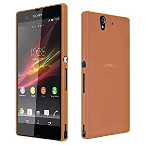 Sony Z Case, TURTLE Ultra slim Shell Case for SONY XPERIA Z (Orange)