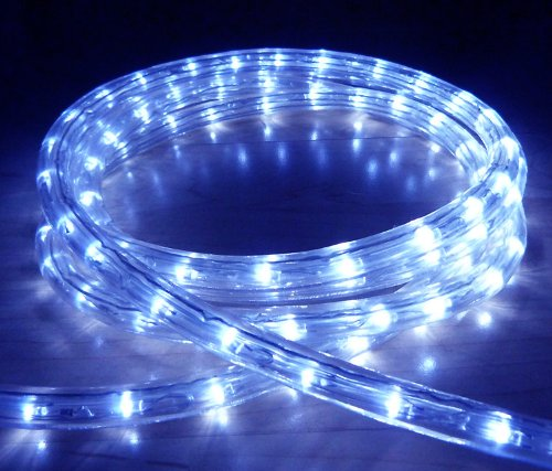 BLUE LED OUTDOOR ROPE LIGHT WITH 8 FUNCTIONS - CHASING, STATIC, ETC ** IDEAL FOR GARDEN DECKING, MOOD LIGHTING, WEDDINGS **