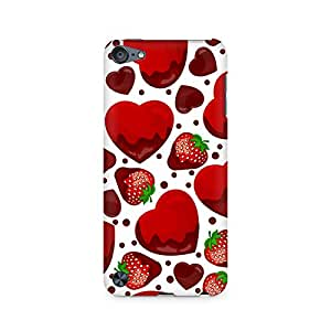 High Quality Printed Cover Case for Apple IPOD TOUCH 6 Model - Strawberry and Hearts