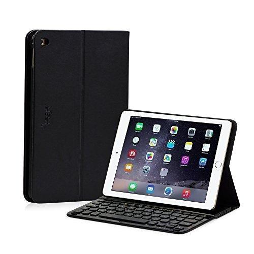 LEICKE® Sharon - Apple iPad 6 / Air 2 - Tastiera Bluetooth con Case protettivo - Custodia e tastiera estraibili con fissaggio magnetico