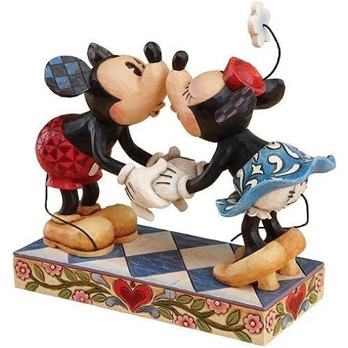 디즈니 tradition Enesco Disney Traditions 장식품 피규어 미키&미니  깃신구  Mickey and Minnie Mouse Kissing [병행수입품]-