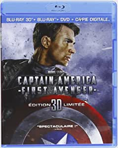 Captain America : The First Avenger [Combo Blu-ray 3D + Blu-ray + DVD + Copie digitale]
