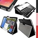 """igadgitz Premium Folio Noir en Cuir PU Étui Housse Case Cover pour Samsung Galaxy TabPRO 10.1"""" SM-T520 avec Support Multi-Angles + Mise en Veille/Réveil + Film de Protection"""