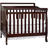 Dream On Me, 3 in 1 Portable Convertible Crib, Cherry