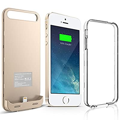 iPhone SE Battery Case, Alpatronix® [BX120SE] MFi Apple Certified 2400mAh Ultra Portable Slim Removable Protective Charging Case for iPhone 5SE [2016 Model Power Pack & Juice Bank]