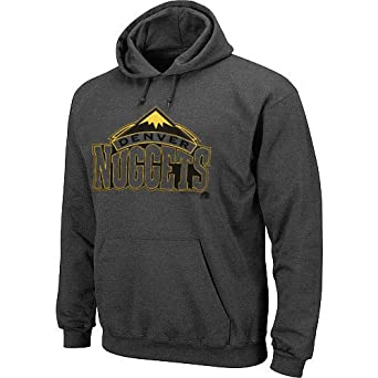 NBA Majestic Denver Nuggets Pop Fleece Pullover Hoodie - Charcoal by Majestic