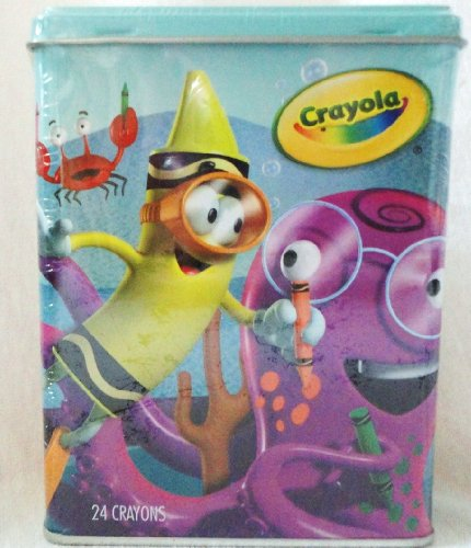 Crayola Imagination Tin Crayons - Sea (w/ 24 ct Crayons)