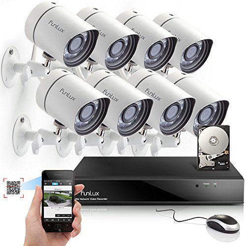 Purchase Funlux® 8CH NVR 720P HD Night Vision IP Surveillance Camera Kit CCTV Security Camera Syste...