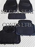 Nissan Navara / Qashqai Car Rubber Floor Mats PVC Black 5 Piece Deep Edged LGF01