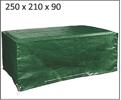 Abdeckung Gartenmöbel, 250cm x 210cm x 90cm Schutzhülle und Abdeckplane für rechteckige Sitzgarnituren und Gartentische und Möbelsets von Glorytec bei Gartenmöbel von Du und Dein Garten