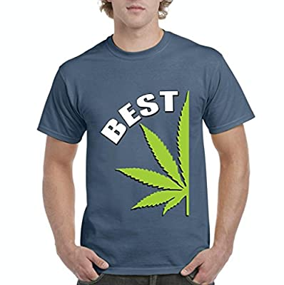 Xekia BEST Buds Pot Leaf Marijuana Weed Cannabis 420 Couples Gifts Men's T-Shirt Tee