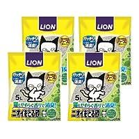 ライオン ペットキレイ ニオイをとる砂 リラックスグリーンの香り 5L×4ヶ