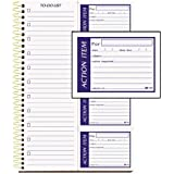 Adams Write 'n Stick Action Item Book, Spiral Bound, 2-Part, Carbonless, 7.5 x 11 Inches, White, 200 Sets per Book (SC8311WS)