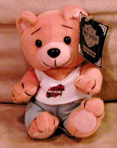 1 X Harley Davidson Bean Bag Plush Evo the Bear - 1