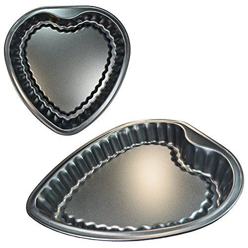 Heart shaped Baking Pan, Bakery Cookie Cheesecake Decorative Cake Non-stick coating, Dishwasher safe, Rust resistant, Measures 11