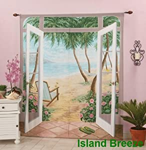 Island Breeze Trompe l'oeil Window Art