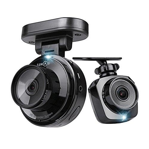 Lukas Lk-5900 Real Hd Duo 2 Channel Black Box Dash Cam 1280 X 720P @ 20Fps 8Gb