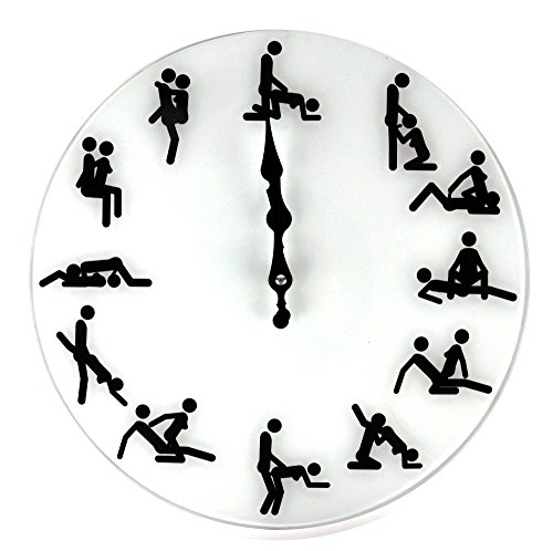 Glass Kama Sutra Wall Clock