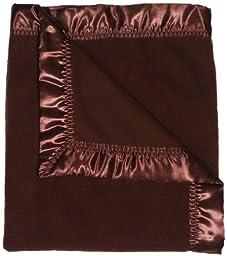 Raindrops Fleece Unisex Receiving Blanket, Chocolate